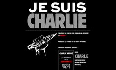"""Defiant website homepage of French magazine Charlie Hebdo 3 days after the terror attack on its office in Janaury 2015. The text includes """"Beause the pen will always be higher than barbarity... we Charlie will bring out your magazine next Wednesday 14/1"""". http://www.charliehebdo.fr/"""