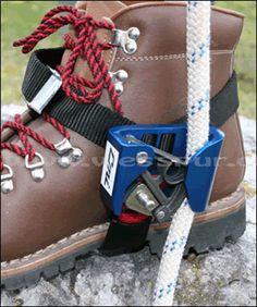 Tree Climbers Foot Ascenders,CMI Foot Ascender,Aluminum RightCMI Foot Ascender (left) - I have a pro deal, see meRope climbing is made easier by the CMI Foot Ascender.Inner Mountain Outfitters is your best resource for caving, climbing and rope acces Survival Shelter, Camping Survival, Survival Tips, Survival Skills, Camping Gear, Camping Hacks, Family Camping, Camping Fridge, Camping Stove