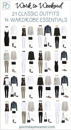 Work Wardrobe Essentials, Core Wardrobe, Capsule Wardrobe Work, Capsule Outfits, Fashion Capsule, Wardrobe Basics, Mode Outfits, Professional Wardrobe, Club Outfits