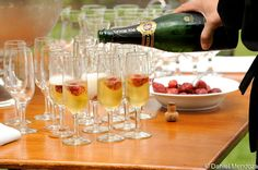 Welcome Champagne Table