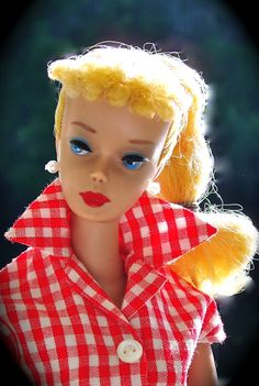 "# 4 Ponytail Barbie In ""Picnic Set"""