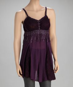 Take a look at this Purple Silk-Blend Tunic by Pretty Angel on #zulily today!