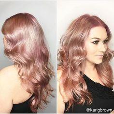 Rose Gold (Hair) Goals  Done by JCI grad @karlgbrown  #olaplex #axishair…