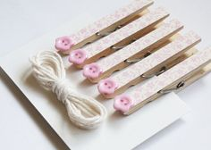 Decorative Clothes Pegs & Twine Set Baby Pink Floral and by eefaa, Clothes Pegs, Twine, Ireland, Crafty, Board, Floral, Etsy, Decor, Decoration