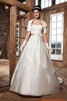 Trägerlos Designer Preiswerte Brautkleider