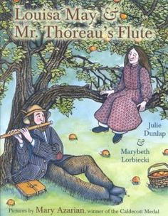 In nineteenth-century Concord, Massachusetts, seven-year-old Louisa May Alcott joins other local children on the varied excursions led by teacher and naturalist Henry David Thoreau, and is inspired to write her first poem. (picture book)