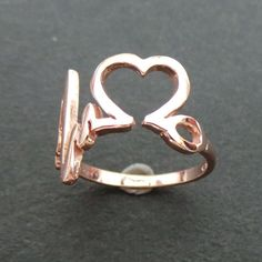 Rose Gold RN Nurse Silver HeartBeat Ring  Pediatric by yhtanaff #futurehearts