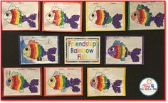 Rainbow Fish: A FriendshipActivity-working in pars students create this colorful rainbow fish,great activity for developing fine motor skills