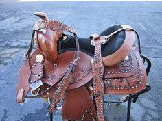 12 13 Show Pony Kids Youth Barrel Leather Western Horse Saddle Barrel Saddles For Sale, Western Saddles For Sale, Western Horse Saddles, Pony Saddle, Cute Ponies, Black Horses, Headstall, Barrel Racing, Leather Tooling