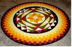 Traditional floral carpet of kerala during the Onam season