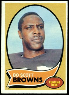 CLEVELAND BROWNS 1970 TOPPS BO SCOTT NUMBER 117 EX+NM FREE SHIP #ClevelandBrowns