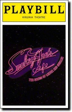 SMOKEY JOE'S CAFE / Virginia Theatre / Opened March 2, 1995 / Closed January 16, 2000 / 2036 performances