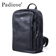 78.35$  Watch here - Padieoe 2017 Genuine Leather New Fashion Men Luxury Male Bag High Quality Waterproof Laptop Messenger Travel Backpack School Bag  #SHOPPING