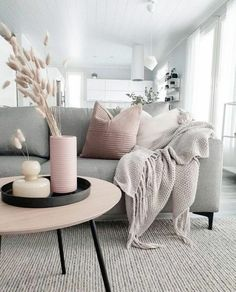Grey Living Room sofa How to Decorate A Grey and Blush Pink Living Room Grey Living Room Furniture, Modern Living Room Table, Cozy Living Rooms, Living Room Grey, Living Room Sofa, Home Living Room, Living Room Designs, Living Room Decor, Apartment Living