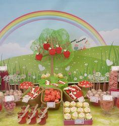 Una alegre mesa de postres para una fiesta Peppa Pig / A fun sweet table for a Peppa Pig party