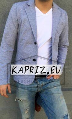Спортно елегантни мъжки сака в сив цвят.Памучни мъжки сака в леки модели Българско производство!