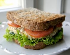 "Vegan Chickpea ""tuna"" Sandwich - My Vegan Menu Vegan Menu, Vegan Snacks, Vegan Vegetarian, Vegetarian Recipes, Healthy Recipes, Healthy Food, Vegan Gluten Free, Gluten Free Recipes, Food Truck"