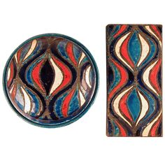 Exceptional Italian Pottery Vessels by Londi or Bitossi for Rosenthal Netter | From a unique collection of antique and modern decorative boxes at https://www.1stdibs.com/furniture/more-furniture-collectibles/decorative-boxes/