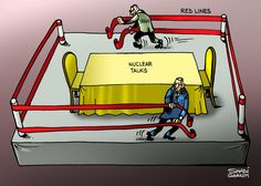 #Caricature #Cartoon #Politics #News #Newspaper #TheNational #US #USA #Russia #Iran #NuclearPower #Nuclear