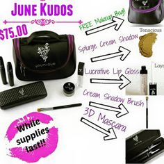 More for the money and a limited edition mini makeup bag for FREE! You don't want to miss out on June's Kudos!  Want to sell this AMAZING makeup click here: https://www.youniqueproducts.com/StaceyKClark/business/presenterinfo#.VWPHZ_lViko  Check out my FB website too! https://www.facebook.com/3dmascarabystacey