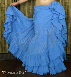 Montana Sky 25 Yard Petticoat Skirt  You can order yours here:  http://www.paintedladyemporium.com/Shop-Here.html