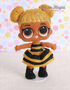 Lol Dolls, Cute Dolls, Monster High Birthday, Polymer Clay Animals, Felt Applique, Sewing Toys, Felt Toys, Cold Porcelain, Diy Doll
