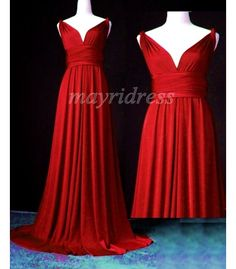 Convertible Dress Red Bridesmaid Dress Infinity by myuniverse Infinity Dress Bridesmaid, Maxi Bridesmaid Dresses, Maxi Dress Wedding, Modest Dresses, Trendy Dresses, Nice Dresses, Prom Dresses, Formal Dresses, Bridesmaid Ideas