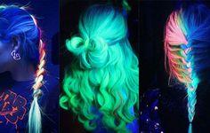 Glow in the dark hair: Η νέα μόδα στα μαλλιά που λαμπυρίζει!