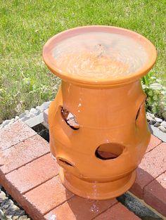 How to Make a Strawberry Pot Garden Water Fountain