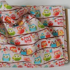 Riley Blake Happy Flappers Collection - Owls on Pink