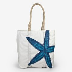 Obsessed with these Sea Bags: Medium Tote: Blue Starfish