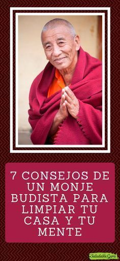 7 Consejos de un Monje Budista para limpiar tu casa y tu mente. #saludable #monje #budista #buda #espiritualidad #paz #armonia #amor #espiritu #limpiar #casa #agradecimiento #trabajo #respirar #limpio #sucio #concentracion Motivational Phrases, Inspirational Quotes, Clara Berry, Kundalini Yoga, Spiritual Health, Dalai Lama, Mindfulness Meditation, Reiki, Karma