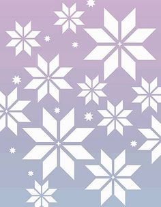 Nordic style snowflake stencil 1 sheet stencil The Nordic Snowflakes Stencil, part of the exciting Nordic Stencil range,  comprises 6 different sized Nordic style snowflakes on a small stencil sheet dotted with miniature snow crystals.  The Nordic Snowflakes Stencil is ideal for creating festive