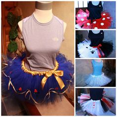 Team Tutus Embellished tutu Designs by HandpickedHandmade on Etsy, $74.00 for 3 and up according to the number you need for your team These are for embellished any character theme tutu skirts for half marathon and fun runs. Disney Princesses and storybook characters. Lots of designs to choose from and custom requests welcome. Handmade and Handpicked Boutique www.facebook.com/handmadehandpickedboutique Disneyland Disney World Weekend