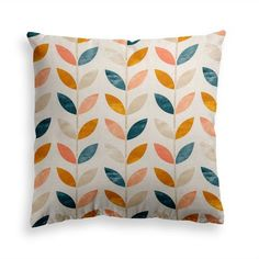 Try our RETRO GARDEN throw pillow. Classic, stylish and timeless, our retro pattern goes with everything. Never underestimate the power of the perfect look to add the right finishing touch to your home. This premium feel moisture-wicking pillow with a shape-retaining insert is just what you're looking for! It'll make any room luxurious and provide the perfect excuse for a quick power nap. Teal Throw Pillows, Decorative Throw Pillows, Power Nap, Orange Leaf, Retro Pattern, Modern Contemporary, Pillow Covers, Garden, Never Underestimate