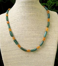 Ancient Afghan Glass Necklace Grass Green Ancient by CatchingWaves, $50.00