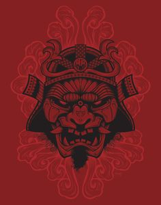 Samurai Rockaganda Art Print by Chris Honeywell, via Behance