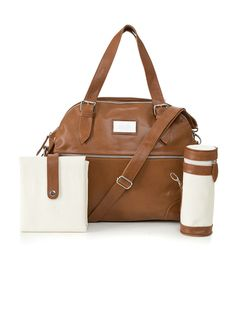 Love love love!! Budu Baby Bag in Tan with the included Mat and Bottle Holder