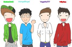 Willyrex, Vegetta777, Rubius, Mangel by GenerisMomo
