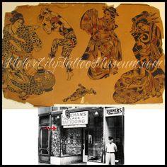Vintage Tattoo Design, Tattoo Museum, Traditional Tattoo Flash, Vintage Flash, Tattoo Portfolio, Pin Up Tattoos, American Traditional, Tattoo Inspiration, Old School