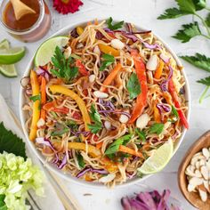 Once you try this Thai Ramen Noodle Salad with Almond Dressing by @jazzminkaita, you'll be hooked! 🌞 . Save this post as a reminder to find the recipe on our website! Ramen Noodle Salad, Food Inc, Thai Noodles, Whats For Lunch, Asian Recipes, Ethnic Recipes, Food Stamps, Food Website, Almond