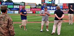 Soldier Surprises Parents at Baseball Game