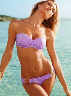 8d20a44825467 2017 New Model Sexy Swimwear Solid Strapless Women Bikini Swimsuits Beach  Fringe Split Two Pieces Bathing Suits Swim