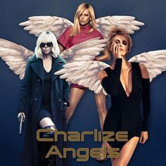 All I want 4 Christmas... 😍😋 #digitalart  #popculture #collageart #wordplay #glamour #charlizetheron #charliesangels