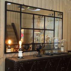 miroir indus en m tal l 180 cm cargo verri re salon pinterest verri re miroirs et miroir. Black Bedroom Furniture Sets. Home Design Ideas