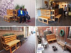 Brothers in Benches: Pallets Offer Public a Place to Sit