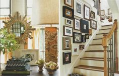 Fran Keenan details Southern Living Jan 2012 via Talk of the House--love the gallery wall!