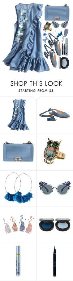 """Ruffles"" by simona-altobelli ❤ liked on Polyvore featuring Madewell, Chanel, Miu Miu, Estée Lauder and Christian Dior"