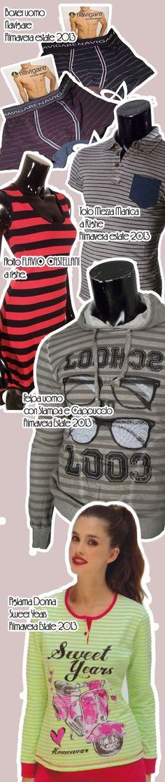 """Moda a righe: un """"trend"""" che torna spesso in primo piano ed è presente anche nelle collezioni di moda maschile e femminile della stagione Primavera Estate 2013."""