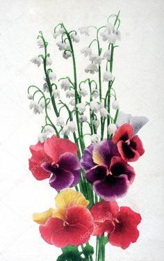 Znalezione obrazy dla zapytania kwiaty na starych pocztówkach